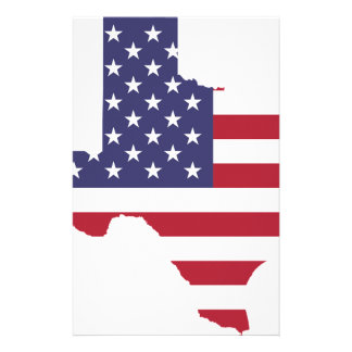 Abstract America Art Texas Stationery