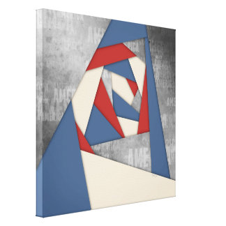Abstract America Collage Canvas Print
