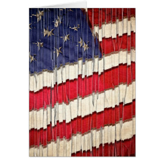 Abstract American Flag Card