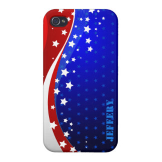 Abstract American Flag Monogram 2 iPhone 4 Cover