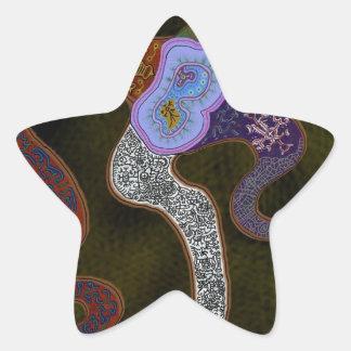 Abstract Amoeba Star Sticker