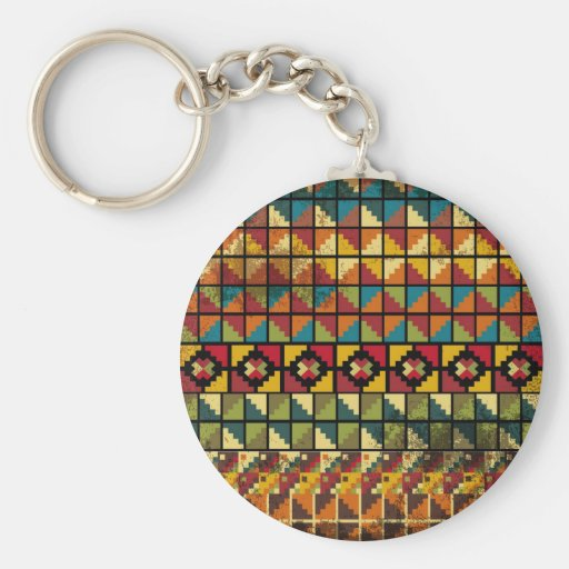 Abstract ancient background key chain