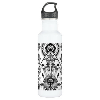 Abstract Ancient Native Indian Tribal 710 Ml Water Bottle