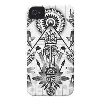 Abstract Ancient Native Indian Tribal Case-Mate iPhone 4 Cases