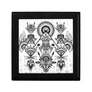 Abstract Ancient Native Indian Tribal Gift Box