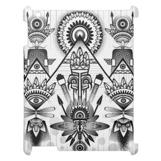 Abstract Ancient Native Indian Tribal iPad Cover