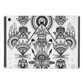 Abstract Ancient Native Indian Tribal iPad Mini Cover