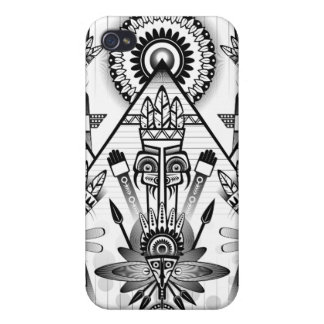 Abstract Ancient Native Indian Tribal iPhone 4 Cases