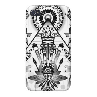 Abstract Ancient Native Indian Tribal iPhone 4 Covers