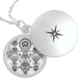 Abstract Ancient Native Indian Tribal Locket Necklace