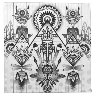 Abstract Ancient Native Indian Tribal Napkin