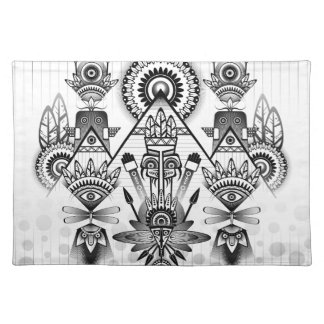 Abstract Ancient Native Indian Tribal Placemat