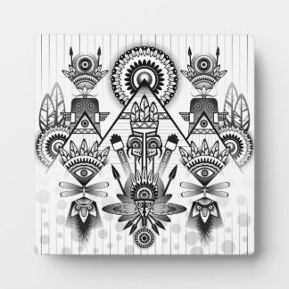Abstract Ancient Native Indian Tribal Plaque