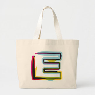 Abstract and colorful letter E Jumbo Tote Bag