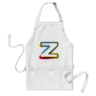 Abstract and colorful letter Z Standard Apron