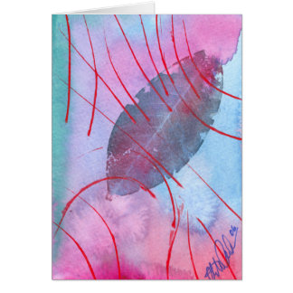 Abstract and delicate autumn leaf card