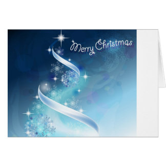 Abstract and magic Snowflakes Christmas Tree Cards
