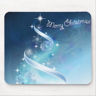 Abstract and magic Snowflakes Christmas Tree Mouse Pad