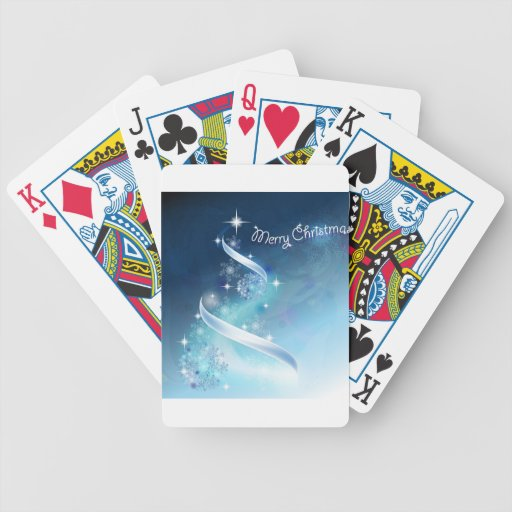 Abstract and magic Snowflakes Christmas Tree Deck Of Cards