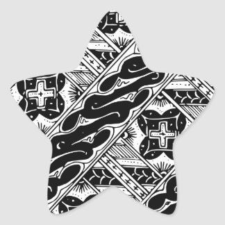 Abstract and Ornate Classical Pattern Star Sticker