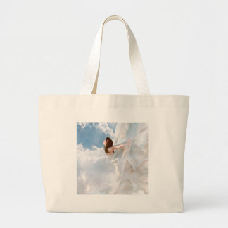 Abstract Angel Cloudy Flutter Dress Tote Bags