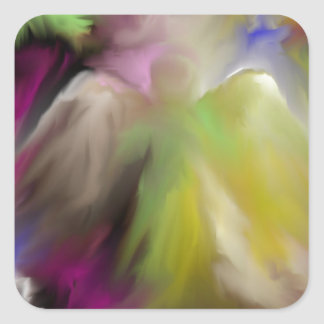 Abstract Angel Design Square Sticker