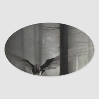 Abstract Angel Fallen Angel Oval Sticker