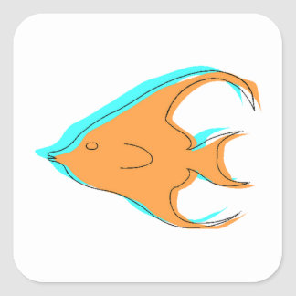 Abstract Angel Fish Stickers