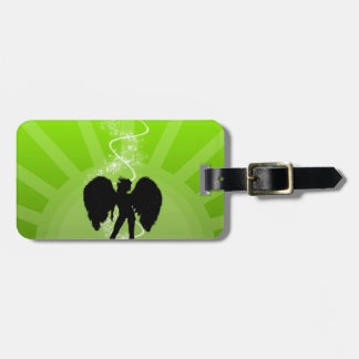 Abstract Angel Green Sun Magic Girl Tags For Bags