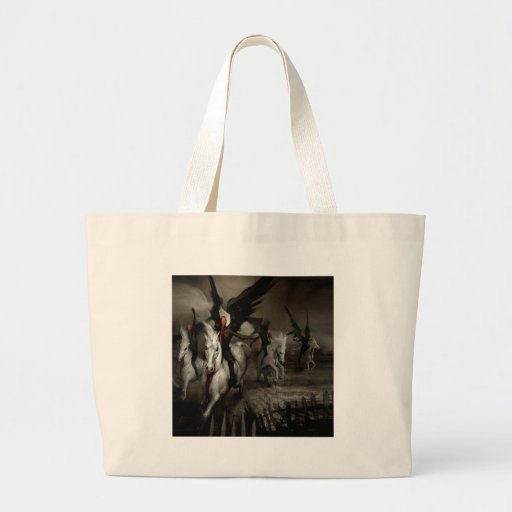 Abstract Angel Horse People Tote Bags