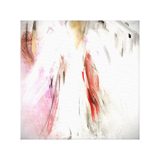 Abstract Angel in White Canvas Print