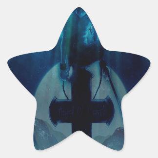 Abstract Angel Night Shadow Sticker