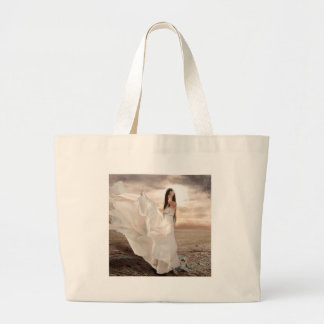 Abstract Angel White Dressed Beauty Bag