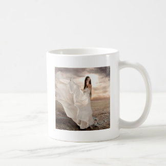 Abstract Angel White Dressed Beauty Mugs