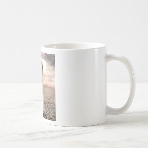 Abstract Angel White Dressed Beauty Mug