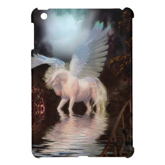 Abstract Angel White Horse iPad Mini Covers