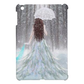 Abstract Angel Winter Snow Princess iPad Mini Covers