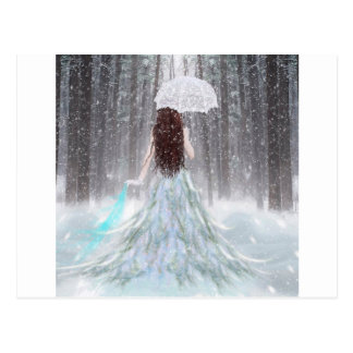 Abstract Angel Winter Snow Princess Post Card