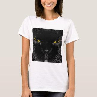 Abstract Animal Cats Eye Yellow T-Shirt