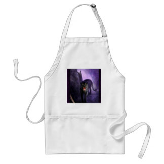 Abstract Animal Deadly Panther Aprons