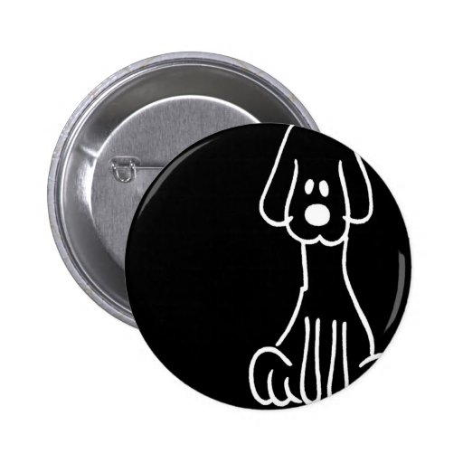 Abstract Animal Doodle Dog Pinback Buttons