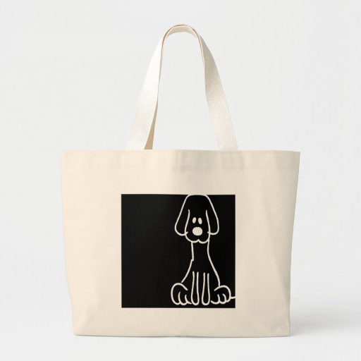 Abstract Animal Doodle Dog Tote Bags