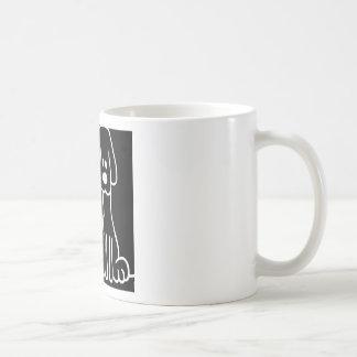 Abstract Animal Doodle Dog Coffee Mug