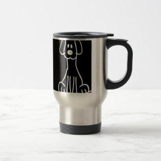 Abstract Animal Doodle Dog Coffee Mugs