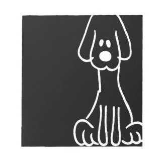 Abstract Animal Doodle Dog Scratch Pad