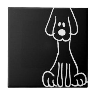 Abstract Animal Doodle Dog Tiles