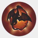 abstract animal dragon storm.jpg round sticker
