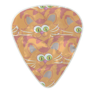 Abstract animal eyes pearl celluloid guitar pick