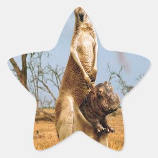 Abstract Animal Kangaroo Wierd Star Sticker