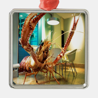 Abstract Animal Lobster House Christmas Ornaments